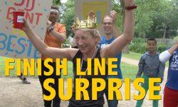 Finish line surprise