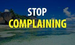 Stop met klagen